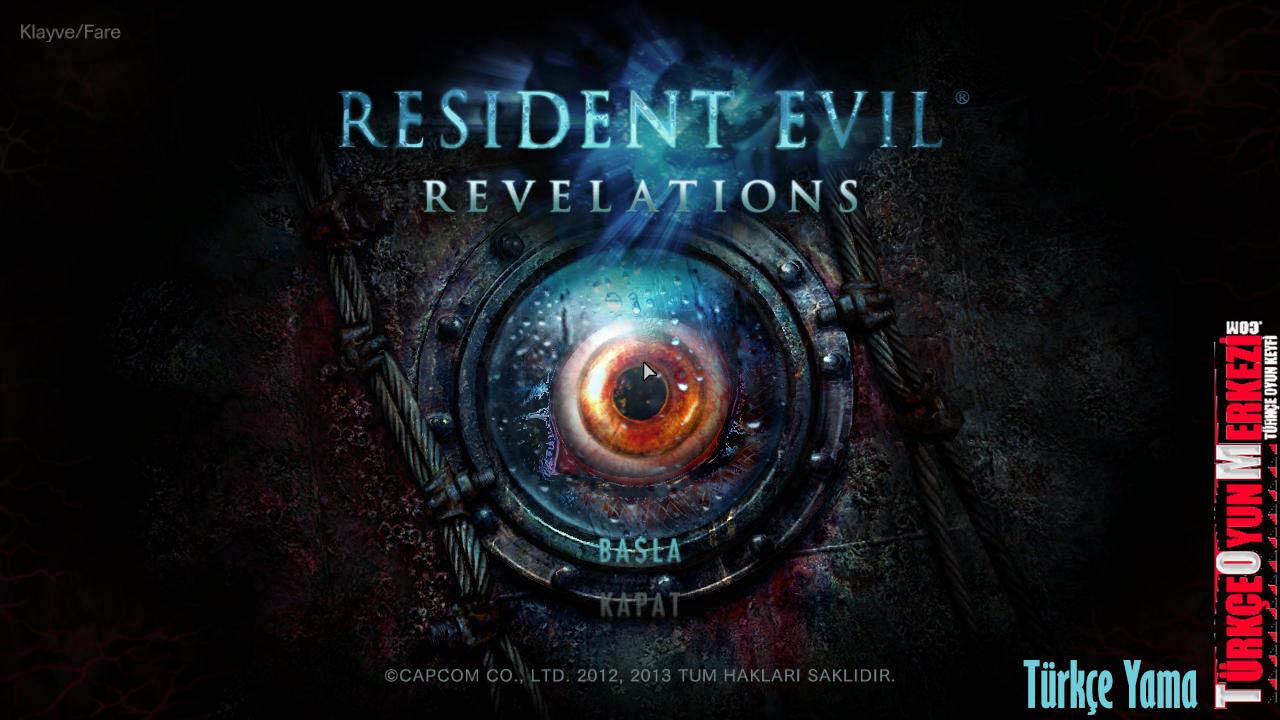 Resident Evil Revelations v2 Türkçe Yama