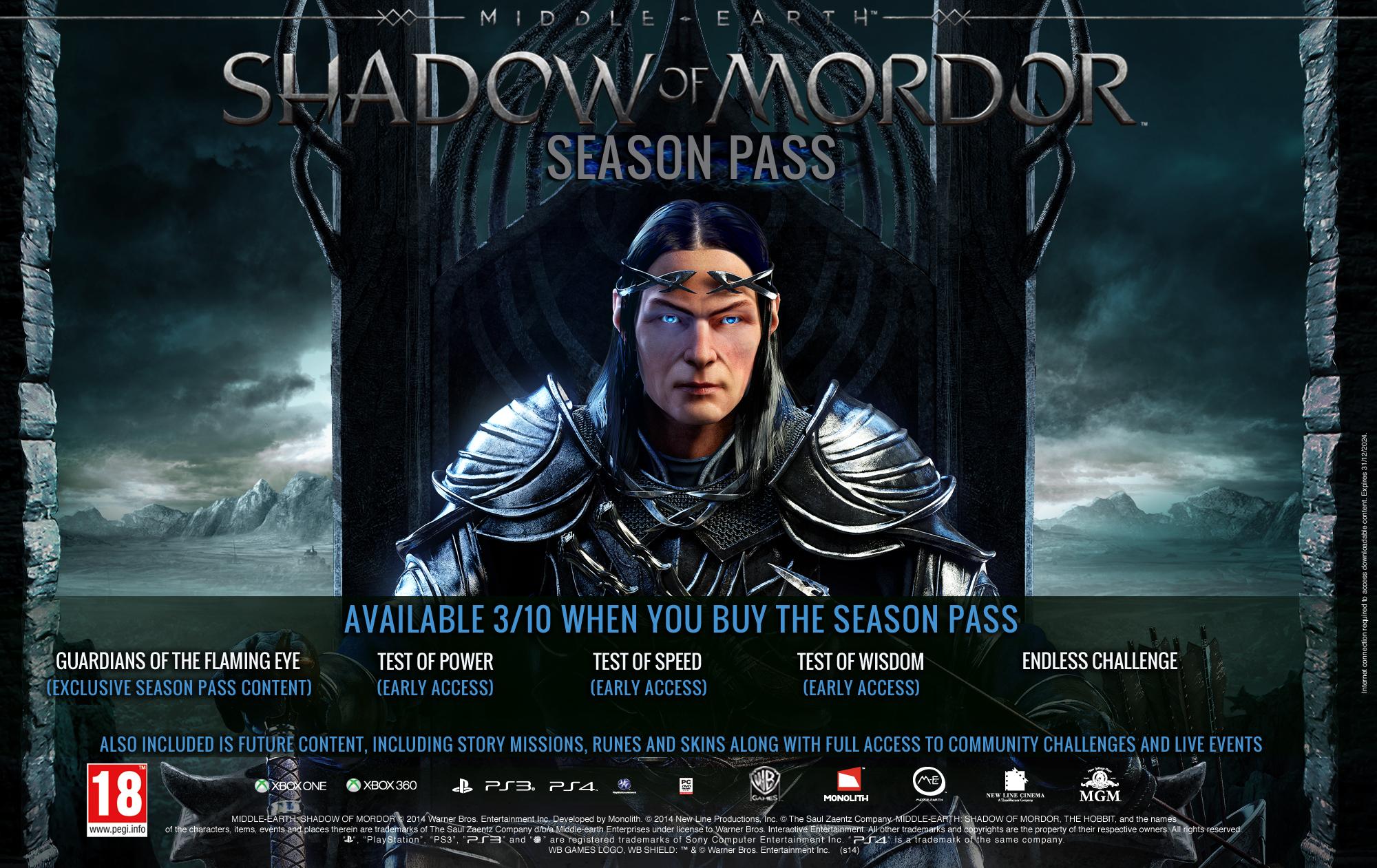 Shadow of Mordor'un Season Pass İçerik Videosu