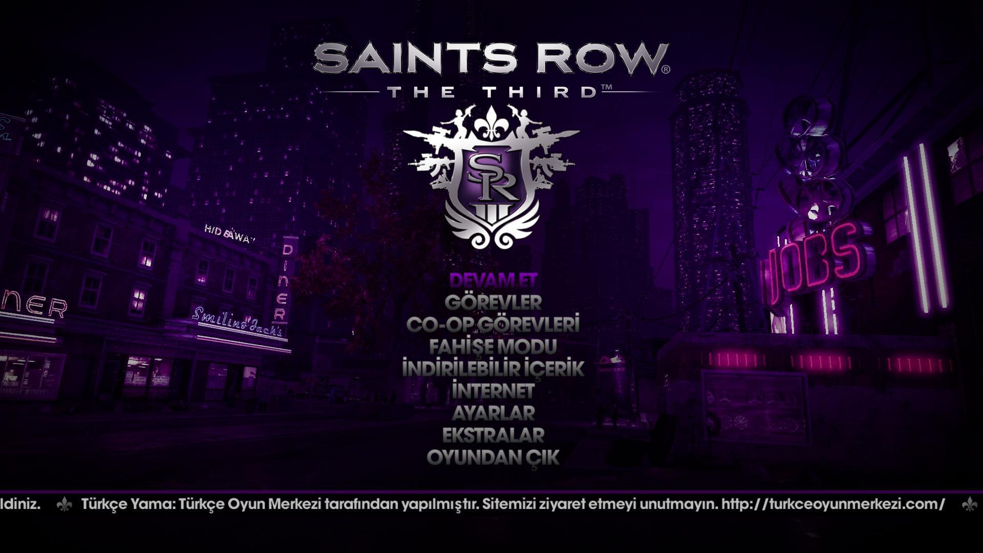 Saints Row The Third (3) % 100 Türkçe Yama