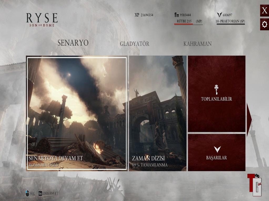 Ryse: Son of Rome % 100 Türkçe Yama